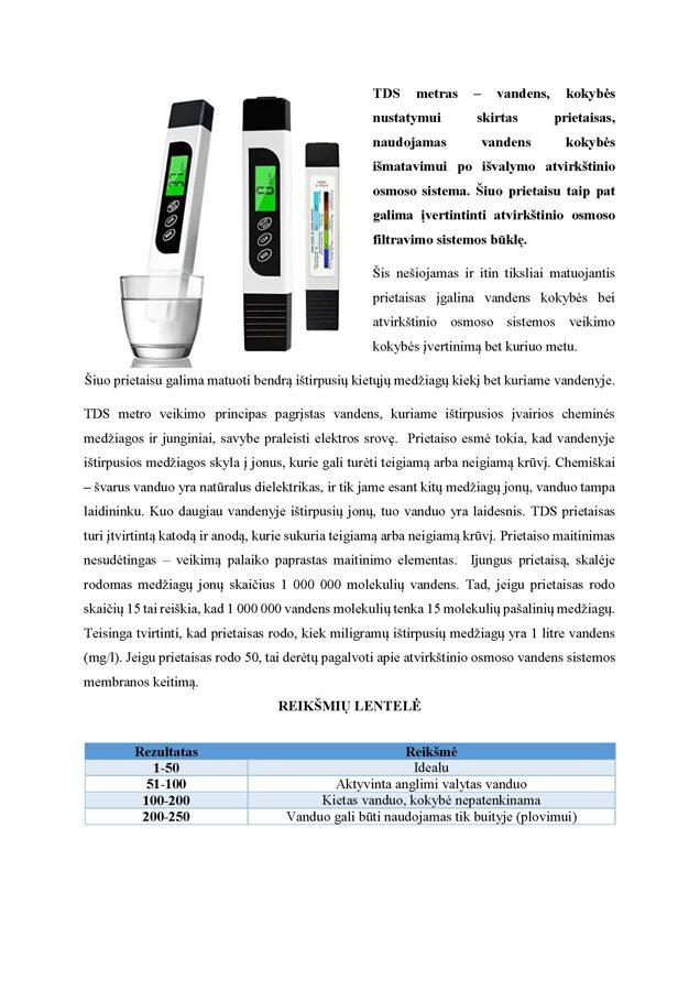 Digital TDS water meter