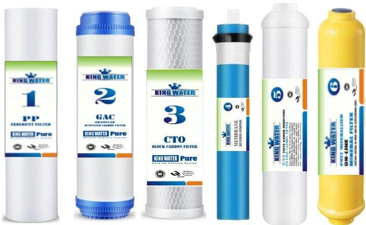 6 kasečiu filtro komplektas