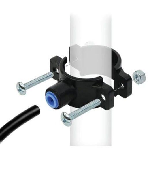Buitinio vandens filtro nuotekų išleidimo tvirtinimo  balnelis